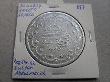20 Kurush 1850 Kurus Piaster große Silber Münze #877