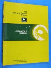 John Deere 316 Lawn Tractors Operator'S Manual