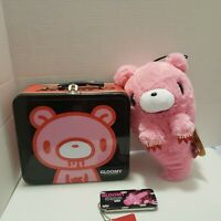 "Gloomy Bear Naughty Red Claw 7"" Rare Plush Tin Lunchbox (New with Tag)"