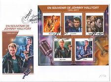 Enveloppe collector Johnny Hallyday 1943 - 2017 souvenir hommage cachet n°2