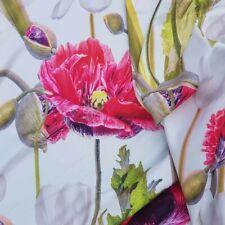 FLOWER Silk Touch Stretch Scuba Satin Leotard Dress Skirt Blouse Summer Fabric