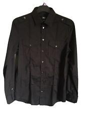 D&G DOLCE & GABBANA BRAD Slim Fit Black Shirt Medium Genuine