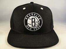 NBA Brooklyn Nets Adidas Snapback Hat Cap Black