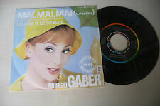 "GIORGIO GABER""MAI MAI VALENTINA-disco 45 giri RICORDI 1964"" PERFETTO"
