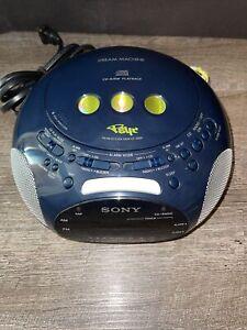 Sony ICF-CD831 Blue Psyc Dream Machine FM/AM CD Player Alarm Clock Radio TESTED