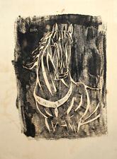 Vintage modernist print horse