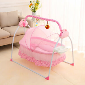 Baby Rocker Infant Swing Bluetooth Cradle Bed Electric Bouncer Shaking Seat Bed