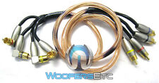 PCA40 ALPHASONIK 1.6' FEET 4CH RCA SPEAKERS TWEETERS SUB AMPLIFIER CABLE WIRE
