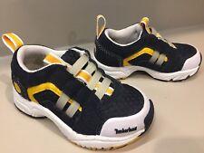 Timberland Hiking Walking Sneakers Toddler Size 5.5 Navy Gold White Slip On Shoe