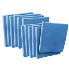 (12) 13 x 21-1/2 x 1 Filter Pads Blue / White Polysynthetic 2-Stage Media