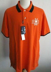 Psycho Bunny Mens Sunset Orange Short Sleeve Polo Shirt - Size 8 XXL NWT