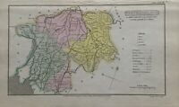 1808 Westmorland Original Antique Hand Coloured County Map 212 Years Old