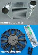 FOR GOLF VW MK4 GTI AUDI A3 BORA 1.8T 1.9TDI SIDE MOUNT INTERCOOLER & Fan