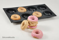 8 cell MINI DOUGHNUT / RING DONUT SILICONE BAKEWARE CAKE MOULDS MOULD Pan