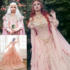 Medieval Blush Fairy Tale Bridal Wedding Dress Off-Shoulder Dream Wedding Gowns