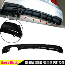 Rear Bumper Diffuser Lip Gloss Black For BMW F30 F31 320i 325i 328i 335i M Sport