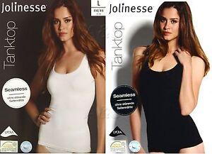 Damen Tanktop Formhemd Seamless Jolinesse Unterhemd Hemd Top NEU