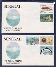 ASg/ Sénégal  enveloppe  1er jour  faune marine poissons  1987