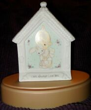 """*Precious Moments Standing Plaque """"I Will Always Love You"""" Girl With Bunny"""