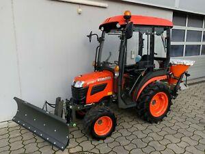 KUBOTA B1161, Diesel, Allrad, Traktor, Kleintraktor- Winterdienst- Kabine-Schild