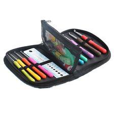 9PCS Set Soft Handle Needles Knit Weave Craft Yarn Aluminum Crochet Hooks+ Case