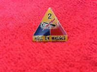 US ARMY 2ND ARMORED DIVISION HAT/LAPEL PIN