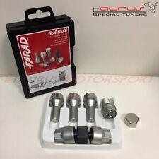 Kit 4 Bulloni ruota antifurto M14x1,5 ch. 17 L 25mm CONICI M14x1,50 Audi Seat