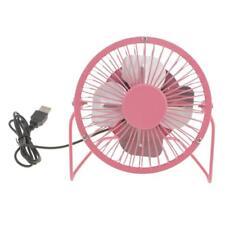 4''inch Usb Fan Mini Table Desk Personal Metal Design Quiet Operation Pink