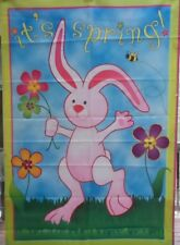 """New listing Easter Bunny """"It's Spring"""" Standard House Flag by Premier Designs #52744"""
