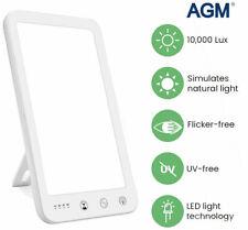10000LUX Tageslichtlampe LED Lichttherapie SAD UV free Dimmbar Timer tageslicht