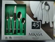 Mikasa Kinsley 45 Pieces 18/10 Stainless Steel Cutlery Set – New