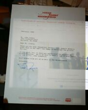 Original Autographed Personalized Letter Fred Rogers Neighborhood Stationary COA
