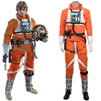 Details about  /Star Wars Luke Skywalker X-Wing Pilot Fighter Black Shoes Cosplay Boots