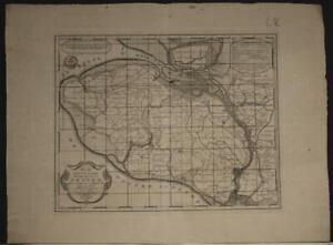 THOLEN ZEELAND NETHERLANDS 1753 ISAAK TIRION UNUSUAL ANTIQUE COPPER ENGRAVED MAP