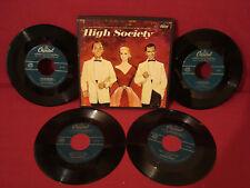 HIGH SOCIETY FRANK SINATRA GRACE KELLY BING CROSBY 4 RECORD BOX SET VG++ EDM 750