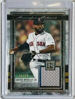 JACKIE BRADLEY JR 2020 MUSEUM GAME USED JERSEY RELIC CARD BOSTON RED SOX #d/50