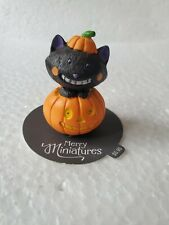 Hallmark 2015 merry miniatures halloween black cat in pumpkin