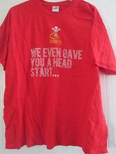 Wales  Rugby Union Six Nations 2013 T Shirt Adult Size XXL /41384