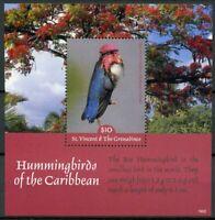 St Vincent & Grenadines 2019 MNH Hummingbirds Bee Hummingbird 1v SS Birds Stamps