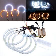 Switchback LED Angel Eye Halo Ring Retrofit Headlight For BMW E39 E46 3 5 Series