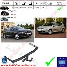 Gancio traino Audi A3 / VW Golf VI / V Plus 03- / Golf V 03-08 OMOLOGAZIONE