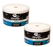 100 NEO Printable White DVD-R 16x High Quality DVD Blank Discs 4.7GB 120mins