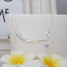 Bracelet Adjustable Free Gift Bag Sterling Silver 925 Hanging Crystal Anklet