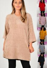 Womens Ladies Italian Lagenlook Jumper Tunic Tops Warm Knit Sweater One Size
