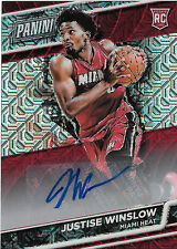 JUSTISE WINSLOW 3/10 ROOKIE AUTOGRAPH 2016 PANINI NATIONAL VIP