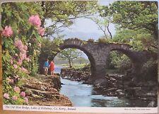 Irish Postcard OLD WEIR BRIDGE Killarney Co Kerry Ireland John Hinde 2/417 1977