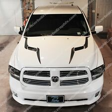 DODGE RAM 2009-17 1500 SRT Performance Sport Hood Stripe INLAY Decal MATTE BLACK