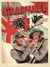 """""""ST-RAPHAËL QUINQUINA"""" Annonce originale entoilée MATCH 1939 PHILI"""