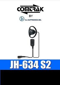 JH-634 S2 Kopfhörer/Mikrofon Mit Gvw Zinn Art Icom Midland 333030