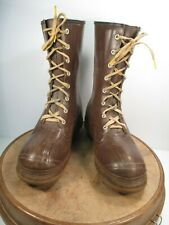 Ball Band Thermo-Ply  Insulated Brown Rubber Hunting Boots size 12 circa 1950s